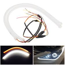 Amber Led Strip Lights by Buy 2x White Amber Flexible Tube Style Switchback Headlight