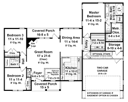 ranch style house plan 3 beds 2 baths 1600 sq ft plan 21 143