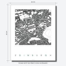 Edinburgh Map Edinburgh Map Art Print Limited Edition By Bronagh Kennedy Art