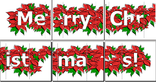 merry christmas banner poinsettia office templates
