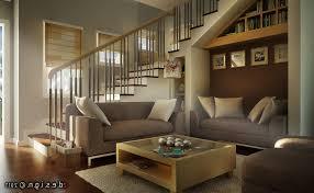 accent walls living room fake animal skin rug simple cream sofa