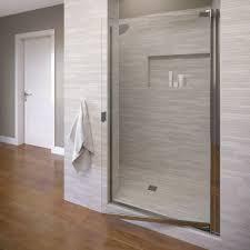 25 Shower Door Basco Classic 25 1 8 In X 66 In Semi Frameless Pivot Shower Door