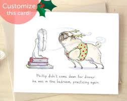 merry christmaaaas pug christmas cards funny christmas