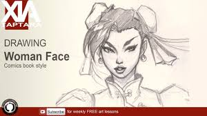 drawing basic comics female face youtube