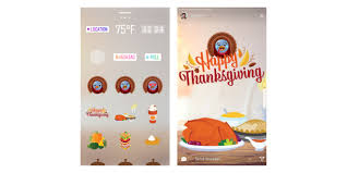 turkey and instagram stickers for thanksgiving adweek