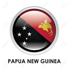 New Guinea Flag Round Flag Of Papua New Guinea Stock Photo Picture And Royalty
