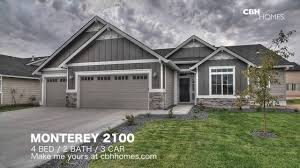 cbh homes monterey 2100 4 bed 2 bath 3 car garage youtube