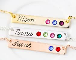 Children S Birthstone Necklace Nana Necklace Etsy