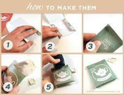 tea bag favors five easy steps to create packages for tea bag wedding favors