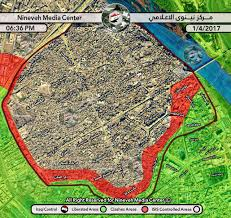 Map Of Al Forces Preparing For Storm Of Al Nouri Mosque In Central Mosul