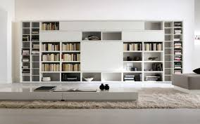 furniture modern room decor ideas with white wall mounted shelves