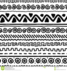 handmade pattern with ethnic geometric ornament stock vector