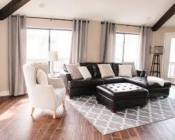 Black Leather Sofa Interior Design Living Room Black Decor Brown Sofa Living Room Leather