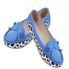 women flat shoes and sandals leopard print