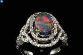 black opal engagement rings black opal and ring