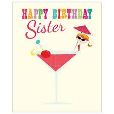 cocktail inkpress range sister birthday card 2 75 creased