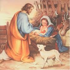 decoupage paper napkin christmas nativity scene baby jesus manger