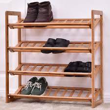 shoe rack entryway 4 tier bamboo shoe rack entryway shoe shelf holder storage organizer