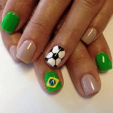 2014 world cup brasil soccer nail art design nail art