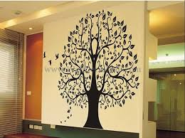 banian tree with birds wall decals walldecalmall com