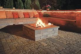 Block Firepit Boston Paving Products Concrete Grid Pavers In New New