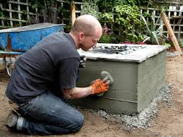 How To Make Homemade Concrete by How To Make A Concrete Fire Feature How Tos Diy