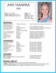 Musical Theater Resume Sample by Acting Resume Sample Free Resume Example And Writing Download