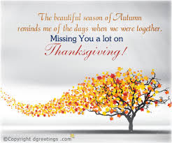 thanksgiving cards missing you this thanksgiving