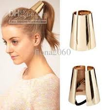 ponytail holder 2017 metal ponytail holder hair cuff tie cone wrap ring big