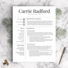 Best Resume Templates Etsy by Resume Template Professional Resume Template Cv Template