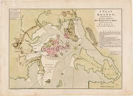 Boston Map by Richard Williams U0027 Fine Map Of The Siege Of Boston Rare U0026 Antique