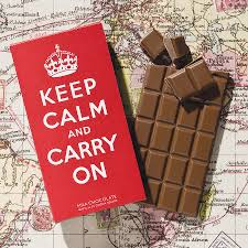 keep calm u0026 carry on chocolate bar by quirky gift library