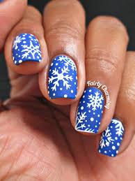 nail designs christmas blue festive christmas nail art designs
