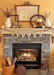 stone fireplace decor fall decor ideas for your fireplace mantle
