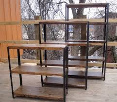 bookcase wood etagere metal and wood bookcase stepped