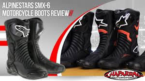 motorcycle track boots alpinestars smx 6 v2 motorcycle boots review youtube