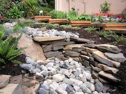 river rock garden decor references
