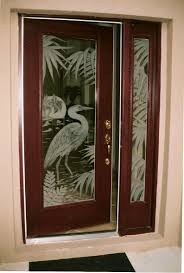 Interior Doors With Glass Panel Doors Etched Glass Etched Glass Design By Premier Etched