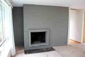 pretty painted brick fireplace on painted brick fireplace ideas