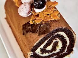 cuisine noel cherry and chocolate bûche de noël recipe dominique ansel food