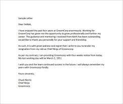 letter of resignation sample thank you letter kindergarten