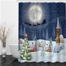 Discount Christmas Shower Curtains 3d Shower Curtain U0026 Beautiful 3d Print Shower Curtains Beddinginn Com