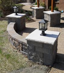 Patio Column Lights Recent Hardscaping Project Gallery Hardscape Landscaping
