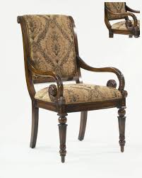 decorator longstaffe arm chair with shimmer damask gold black