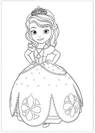princess sofia coloring page printable murderthestout