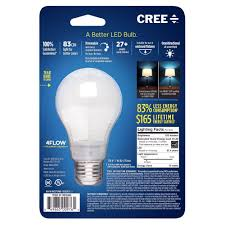 20 Watt Led Light Bulbs by Cree Ba19 08027omb 12de26 3 120 60w Equivalent 2700k A19 Led Light