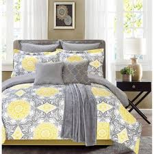 yellow grey white simple modern bedding sets u2013 ease bedding with style