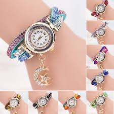 bracelet bands ebay images Women crystal wrist watch band wave bracelet dial quartz analog jpg