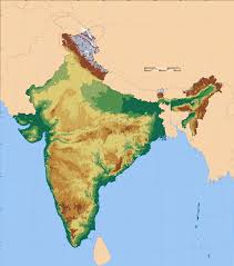 Blank Physical Map Of South Asia by Atlas Of India Wikimedia Commons