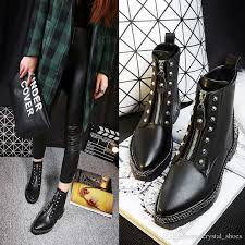 womens boots in style 2017 2017 autumn black martin boots fashions booties
